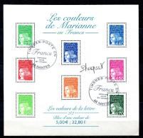 Bloc Feuillet 42 - Couleurs De Marianne - Avec Gomme - Cachet PJ 31 Décembre 2001 - Blocs & Feuillets