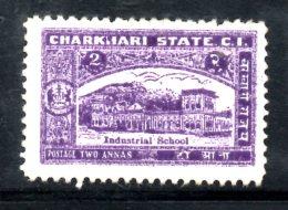 T177 - STATI INDIANI , CHARKHARI :  2 Anna  Nuovo - Charkhari