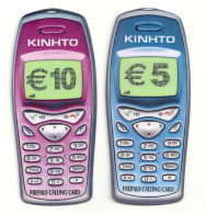 Greece - Amimex - Mobile Prepaid Cards 5€ & 10€ Set Of 2, 10.000ex & 20.000ex, 11.2002, Mint - Grecia