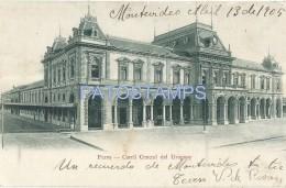 50110 URUGUAY MONTEVIDEO STATION TRAIN ESTACION DE TREN FERROCARRIL CENTRAL POSTAL POSTCARD - Uruguay
