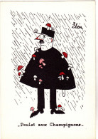 EBEN  Ed VIEUX MOULIN  N°61-12  - HUMOUR  GENDARME POLICE - Poulet Aux Champignons -  CPSM  10,5x15 TBE - Künstlerkarten