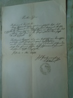 D137988.18 Old Document  Hungary   Georg Gyarmek -Anna Szitár -Prjekopa -Katharina ZAPPA - 1871 - Engagement