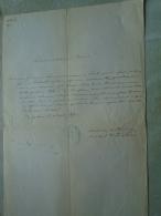 D137988.20 Old Document  Hungary  Maria Hanesmann -Franciscus Leibkichler  -Schneider Budapest 1875 - Engagement
