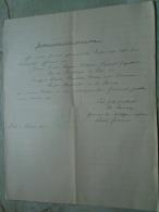 D137988.21 Old Document  Hungary Carl August Etienne -Louise Caroline Murr -Corneaux -Neuchatel -1871 - Fiançailles