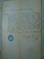 D137988.22 Old Document  Hungary  Ferenc  SZKLADÁNYI -Katalin Schmidt -Gubány - Hont -Slovakia 1875 - Fiançailles