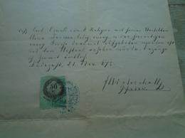 D137988.23 Old Document  Hungary   Carl Oszvald  Anna Turcsan  1875 - Fiançailles