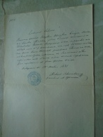 D137988.24 Old Document  Hungary   Joseph Adolph Prayer - Elisabetha Kaunitz -Anna Zborovszki  Budapest 1875 - Engagement