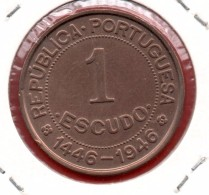 GUINEA PORTUGUESA - 1 Escudo 1946 - Guinea-Bissau
