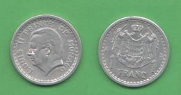 Monaco 1 Franco 1943  ( No Date ) - 1922-1949 Luigi II