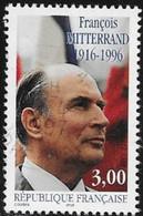 N° 3042   FRANCE  -  OBLITERE  - 1ER ANNIVERSAIRE MORT F. MITTERAND   -  1996 - Frankreich