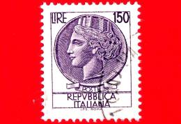 ITALIA - Usato - 1976 - Siracusana Fluorescente - 150 L. • Antica Moneta Siracusana - 1971-80: Usados