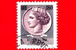 ITALIA - Usato - 1971 - Siracusana Fluorescente - 180 L. • Antica Moneta Siracusana - 1971-80: Usados
