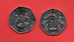 UGANDA - 10 Shilling  1987 - Ouganda