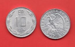 CHILE - 10 Escudos 1974 - Chili
