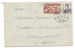 Germany.Saar.1947-56 Protectorate.Letter.nice Stamps Industry. - 1947-56 Protectorate