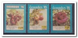 Ecuador 1976, Postfris MNH, Flowers, Roses, Fruit - Ecuador