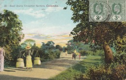 Colombo  ,Road Scene Cinnamon Gardens   - Scan Recto-verso - Sri Lanka (Ceylon)