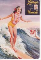 Carte Moderne, Libby's Comes Only From Hawai,Libby's Surfer Girl, Surfeuse - Polynésie Française