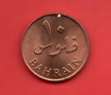BAHRAIN -  10 Fils 1965 - Bahrein