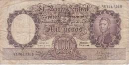 BILLETE DE ARGENTINA DE 1000 PESOS AÑOS 1955 A 1965 EN CALIDAD RC  (BANKNOTE) DIFERENTES FIRMAS (BARCO-SHIP) - Argentina