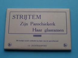 STRIJTEM - Zijn PAROCHIEKERK Haar GLASRAMEN ( Thill ) Carnet 12 Kaarten ( Zie Foto´s Voor Details ) !! - Roosdaal