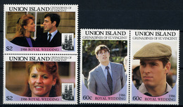 1986 - UNION ISLAND - Catg. Mi.  393/396 -  NH - (CW BLOCK147) - SARA E ANDREW - St.Vincent (1979-...)