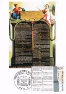 18230. Tarjeta Maxima PARIS (France) 1989, Declaration Droits De L'homme - Cartas Máxima