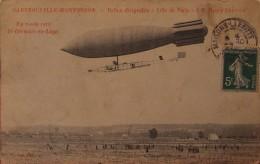 """Ballon Dirigeable """"Ville De Paris"""" à M.Henry Deutsch En Route Vers St-Germain En Laye 1907 - Dirigibili"""