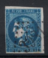 SUPERBE NUANCE BLEU FONCE (BLEU ROI?) Sur CERES BORDEAUX N° 46 Oblitéré - 1870 Emission De Bordeaux
