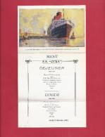CPA MENU A SYSTEME -  PAQUEBOT S.S. CUBA Au Havre French Line - 8 Octobre 1931 - Illustration Albert SEBILLE - Paquebots