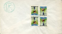 9442 Turkey, Cover Fdc  With 4 Stamps And Special Postmark 1956 Istanbul,  Against The Alcoholism, Alcoolisme - Disease