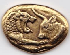 GRECE Jeton Cresus Statere Vième Avant J.C. Collection BP Trésor Des Monnaies Antiques Etat TTB Publicité Pièce Monnaie - Royal / Of Nobility