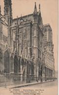 PARIS : Notre-Dame, Côté Nord (Rue Du Cloître Notre-Dame) - Notre Dame De Paris