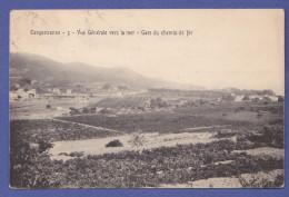 CPA Vue Générale Vers La Mer Gare Du Chemin De Fer CARQUEIRANNE 83 - Carqueiranne