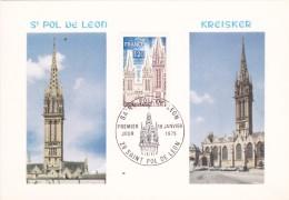FRANCE @ SAINT POL DE LEON - N.D De Kreisker - Carte Maximum De 1975 - 1970-79