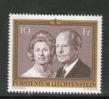 LIECHTENSTEIN 1974 Franz Josef II & Gina   YVERT   N°557  NEUF MNH** - Liechtenstein