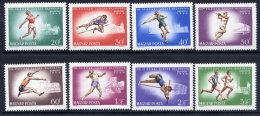 HUNGARY 1966 European Athletics Set MNH / **.  Michel 2262-69 - Hungary