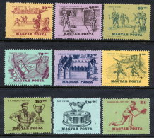 HUNGARY 1965 History Of Tennis Set MNH / **.  Michel 2127-35 - Hongrie