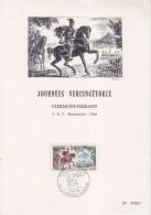 = Journées Vercingétorix, 63 Clermont-Ferrand 5.11.66 Carton 1er Jour N°1495 En Armure Et à Cheval - Célébrités
