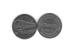 Jeton  Transports En Commun - Stationnement  Grand Besançon ( 25 )  Le  Tramway  N° 53270  Recto  Verso - Andere