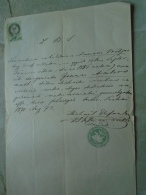 D137988.30 Old Document   Hungary Pest  -Slovak Church - Anna  Vastjar -Joamme  Ambros -1870 - Engagement