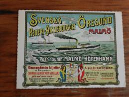 Malmo Svenska Rederi Aktiebolaget Oresund Malmo  Kopenhamn 1974 - Ships