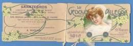 """Calendarietto  1910 """"La Vedova Allegra """" Fratelli Cella Milano - Calendari"""