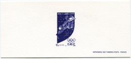 FRANCE GRAVURE OFFICIELLE DU N°3460 EN VIOLET JEUX OLYMPIQUES D'HIVER A SALT LAKE CITY (ETATS-UNIS) - Winter 2002: Salt Lake City
