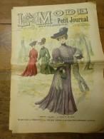 1902 La MODE Du Petit Journal TOILETTES De PLAGE ,grav Couleurs  1ere Page & Double P - Habits & Linge D'époque