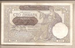 Serbia - Banconota Circolata Da 100 Dinari - 1941 - Serbia