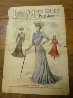 1902 La MODE Du Petit Journal  ,grav Couleurs  1ere Page & Double P - Vintage Clothes & Linen