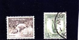 1937 - AUSTRALIA - O/FINE CANCELLED - FAUNA - Yv 117, 118  Mi 147A, 148A - Usati
