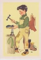 """CPSM 10X15 . """"Les Petits Apprentis """" Illust. GERDA . LE CORDONNIER   (Grandes Frises Du Père Castor) - Artisanat"""
