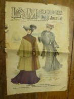 1902 La MODE Du Petit Journal VÊTEMENT GISMONDA,TOILETTE DE JEUNE FILLE ,grav Couleurs  1ere Page & Double P - Vintage Clothes & Linen
